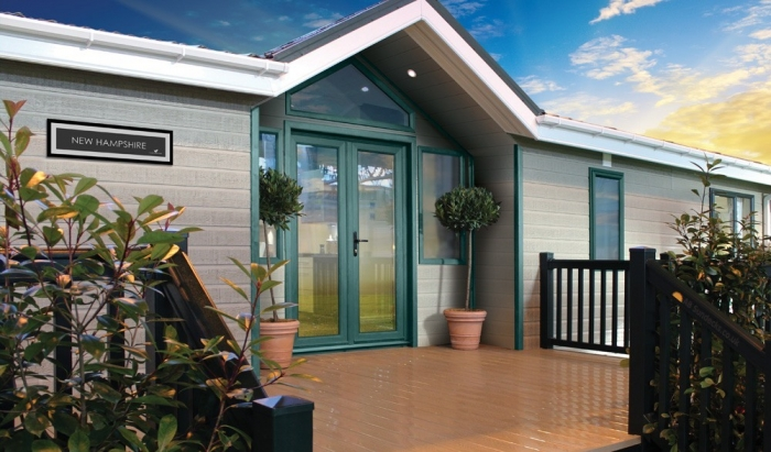Luxury Lodges for sale Wales, front picture