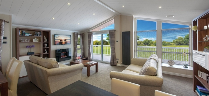 Luxury Lodges for sale Wales, Lounge