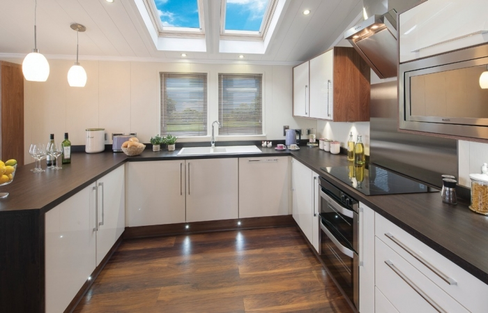 Luxury Lodges for sale Wales, kitchen