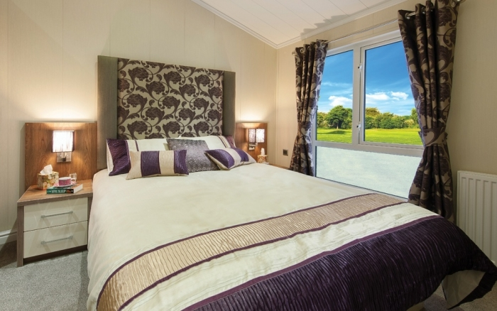 Luxury Lodges for sale Wales, bedroom
